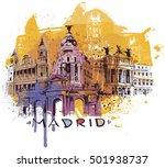 madrid sketch | Shutterstock .eps vector #501938737