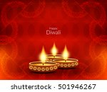 abstract red color happy diwali ...   Shutterstock .eps vector #501946267