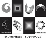 logo icon design and business... | Shutterstock .eps vector #501949723