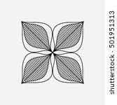 isolated silhouette of flower... | Shutterstock .eps vector #501951313