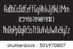 modern thin rounded line font.... | Shutterstock .eps vector #501970807