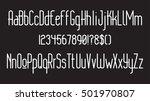modern thin rounded line font.... | Shutterstock .eps vector #501970807