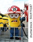 Small photo of OSAKA, JAPAN - SEPTEMBER 26 2016: Minion Mascot from Despicable Me in Universal Studios japan