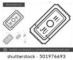 movie ticket vector line icon... | Shutterstock .eps vector #501976693