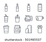 drinks food set icon | Shutterstock .eps vector #501985537