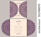 wedding invitation or greeting... | Shutterstock .eps vector #501988093