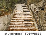 Abandoned Stairs  Are Painted...