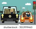 situations on the road.the... | Shutterstock .eps vector #501999463