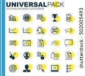set of 25 universal editable... | Shutterstock .eps vector #502005493