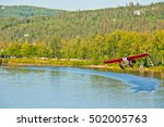 float plane taking off from a... | Shutterstock . vector #502005763