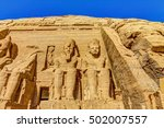 the great temple at abu simbel  ... | Shutterstock . vector #502007557