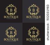 boutique logo design template ... | Shutterstock .eps vector #502031983