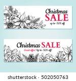 christmas sale banner. vector... | Shutterstock .eps vector #502050763