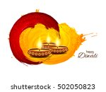 abstract happy diwali... | Shutterstock .eps vector #502050823