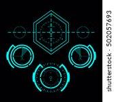futuristic blue virtual graphic ...