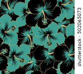 trendy seamless floral pattern. ... | Shutterstock .eps vector #502065073
