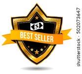best seller label   e commerce... | Shutterstock .eps vector #502073647
