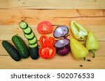 traditional vegetables used in... | Shutterstock . vector #502076533