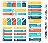 set of abstract logo  symbols... | Shutterstock .eps vector #502089253