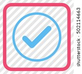 ok pink and blue vector icon....