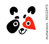 animal. panda bear face. vector ... | Shutterstock .eps vector #502122973