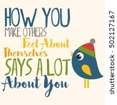 how you make others feel about... | Shutterstock .eps vector #502127167