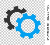 blue and gray gears toolbar... | Shutterstock .eps vector #502137493