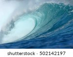 wave breaking over shallow... | Shutterstock . vector #502142197