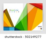 3d low poly shapes design for... | Shutterstock .eps vector #502149277