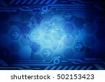 2d illustration digital world... | Shutterstock . vector #502153423
