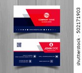 colorful business card template ... | Shutterstock .eps vector #502171903