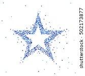 vector illustration of blue star | Shutterstock .eps vector #502173877