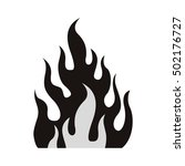 fire flame burning | Shutterstock .eps vector #502176727