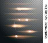 set of vector warm light lens... | Shutterstock .eps vector #502181143
