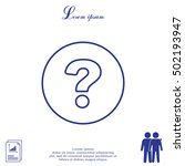 question mark line icon   Shutterstock .eps vector #502193947