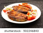 Small photo of Fresh King fish fry, served with fresh salad