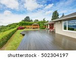 luxury house exterior with... | Shutterstock . vector #502304197
