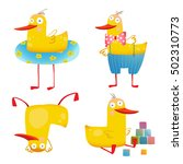 child duck funny colorful toy... | Shutterstock . vector #502310773