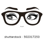 eyes with glasses | Shutterstock .eps vector #502317253