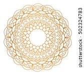 mandala. vintage decorative... | Shutterstock .eps vector #502324783