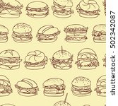 vector seamless pattern with... | Shutterstock .eps vector #502342087