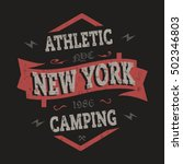t shirt graphics  typography.... | Shutterstock .eps vector #502346803