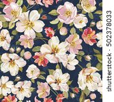spring floral pattern with... | Shutterstock .eps vector #502378033