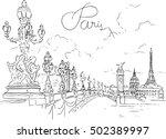 alexander third bridge in paris ... | Shutterstock .eps vector #502389997