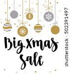 big xmas sale. holiday card... | Shutterstock .eps vector #502391497