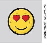 smiley face icon  vector... | Shutterstock .eps vector #502396393