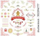 ornate christmas collection.... | Shutterstock .eps vector #502396777