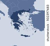 map   greece | Shutterstock .eps vector #502397683