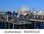 santa monica  california  usa   ... | Shutterstock . vector #502403113