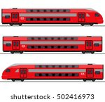 passenger express train.... | Shutterstock .eps vector #502416973